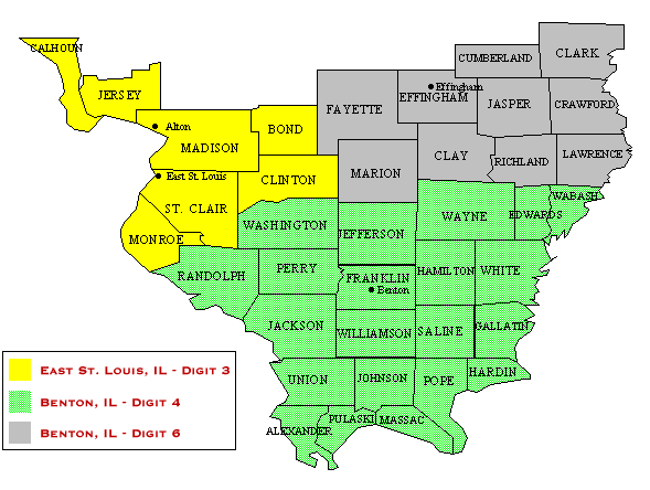 Southern District Of Illinois Case Assignment Map Southern - United states map illinois